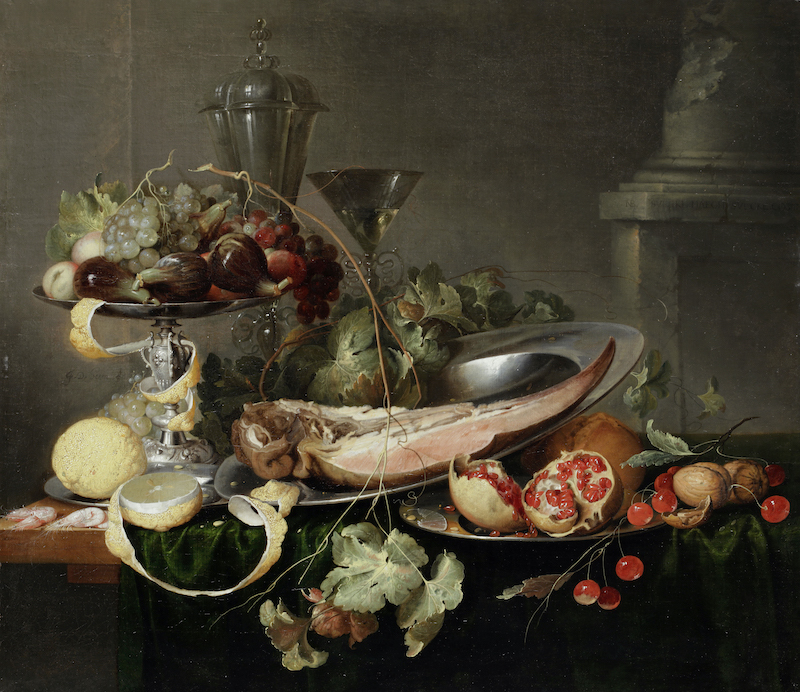 Beast Tongue, feast tongue.     Or PRONK, An acrostic inspired by Jan Davidsz. de Heem (1606-84)