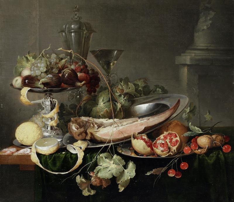 Still Life with fruit and calf's tongueby Jan Davidsz. De Heem