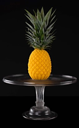 Pineapple-shaped ice cream
