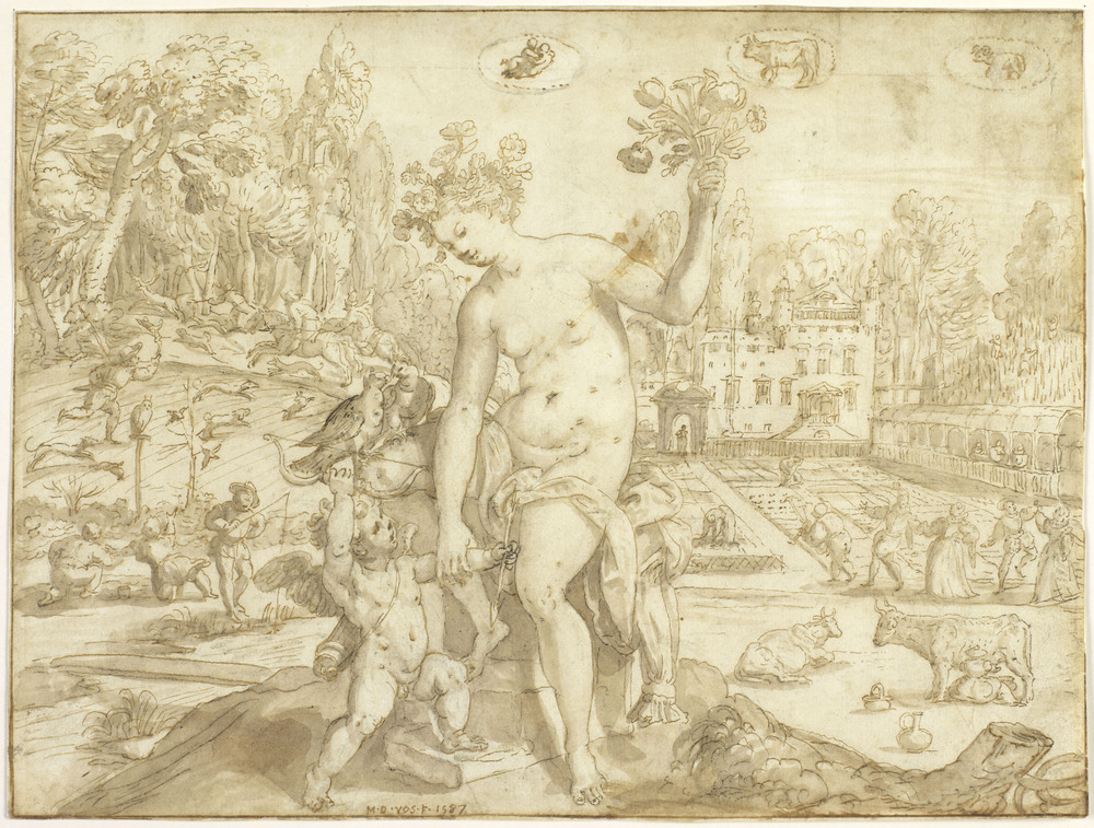 Spring with Venus and Cupid