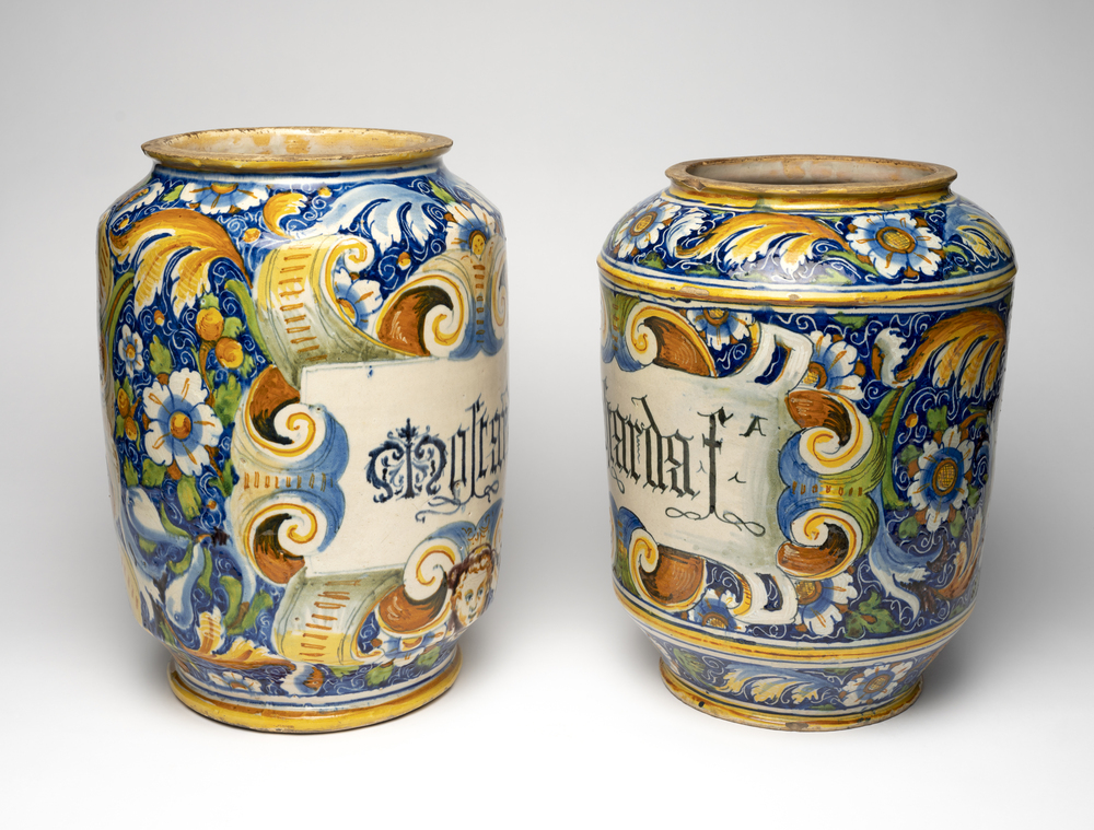 Pair of storage jars for mostarda fina