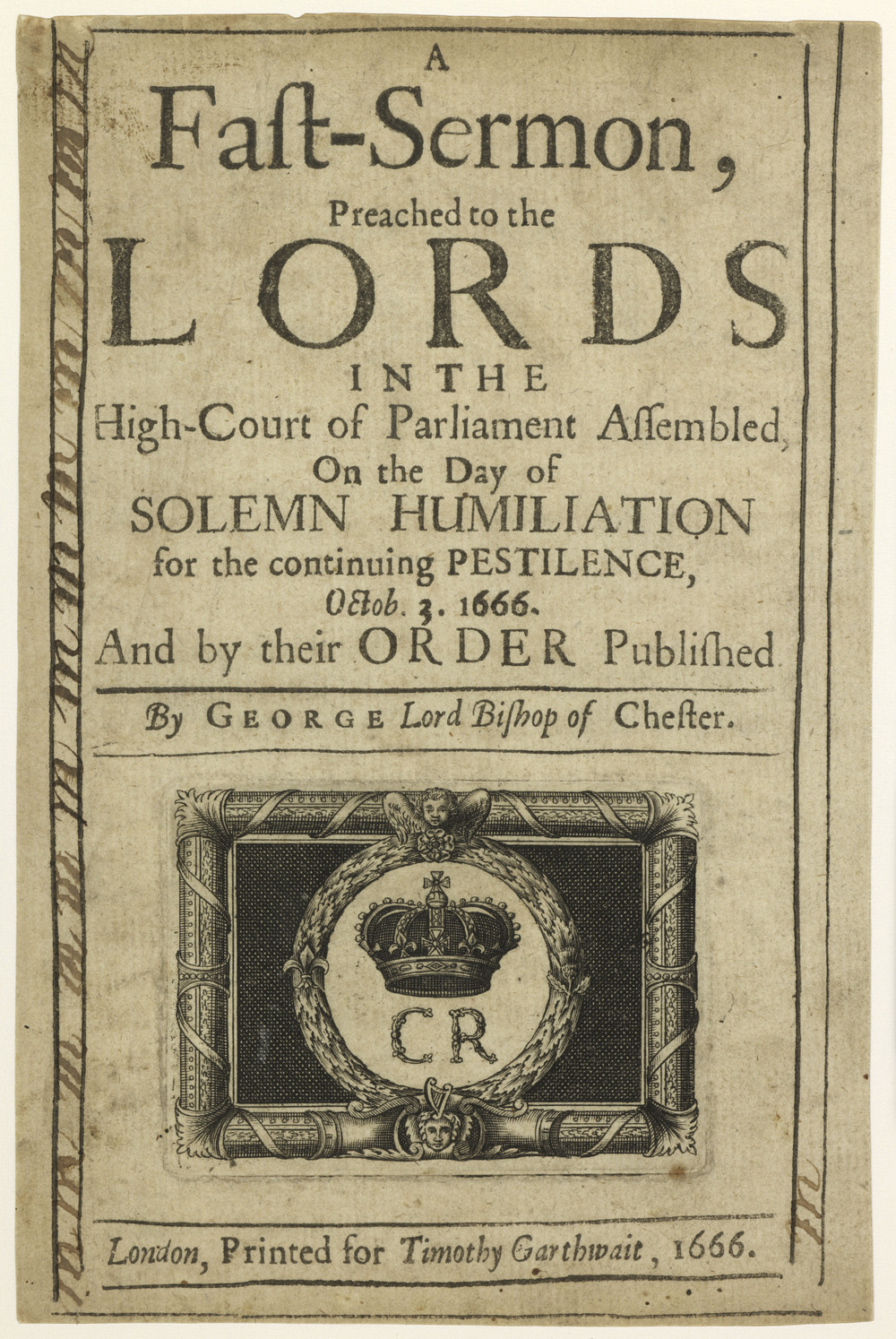 Title-page to George Hall