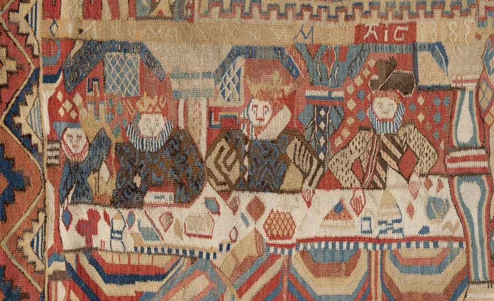 Bridal tapestry with The Feast of Herod