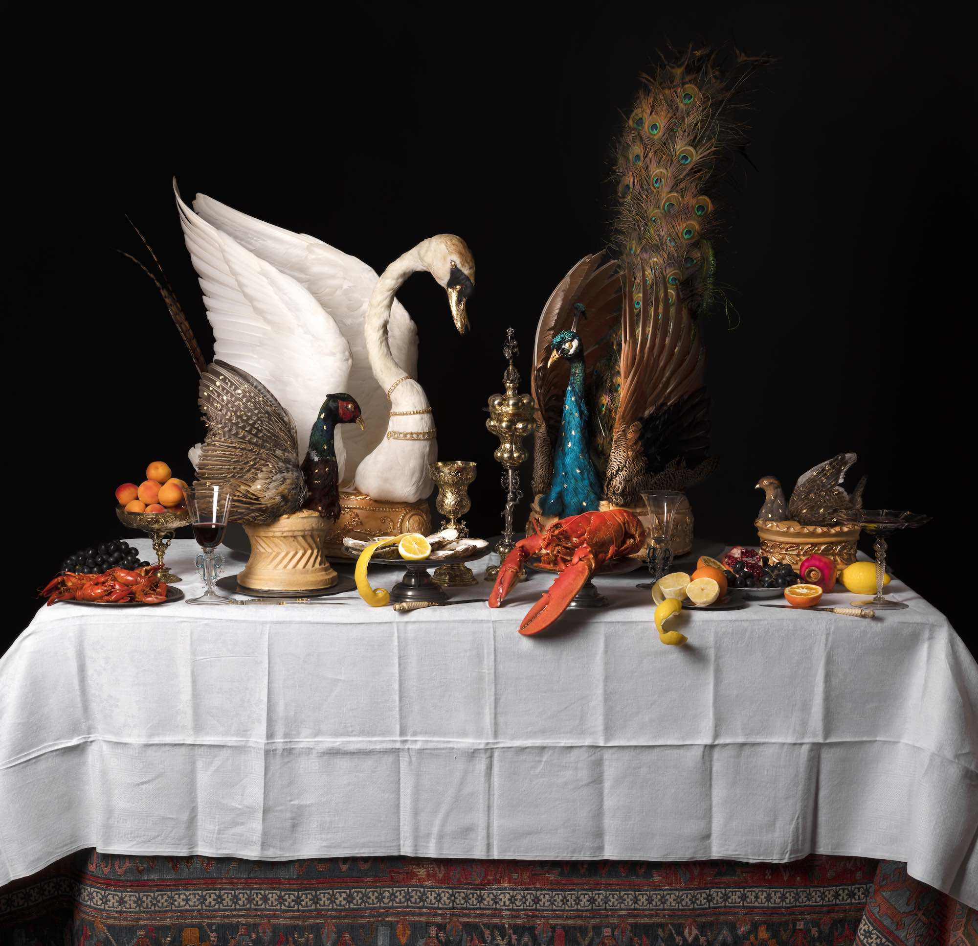 A view of a Baroque feasting table.